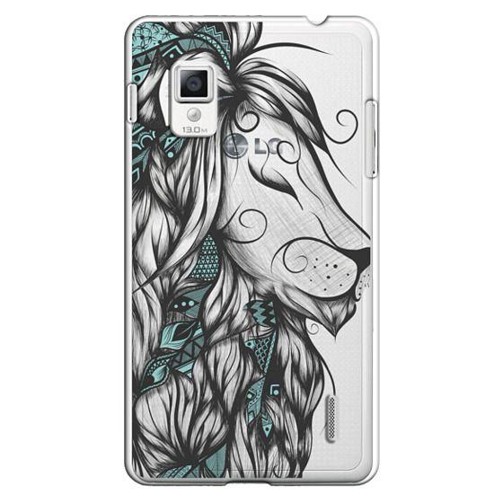 Optimus G Cases - Poetic Lion Turquoise