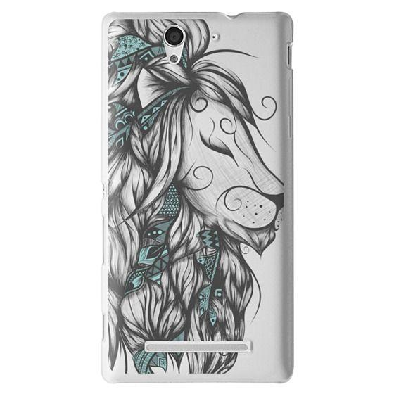 Sony C3 Cases - Poetic Lion Turquoise