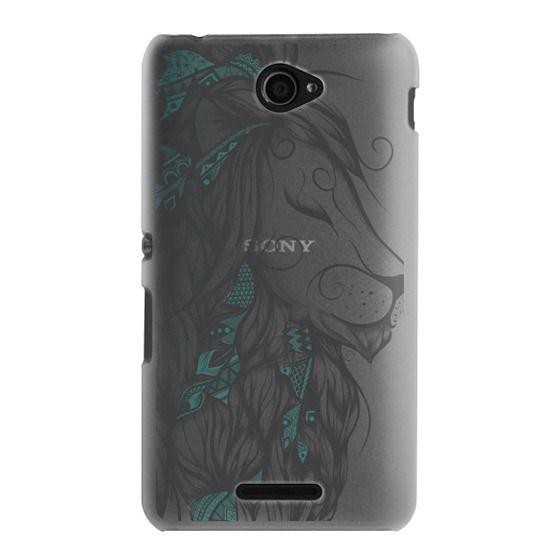 Sony E4 Cases - Poetic Lion Turquoise