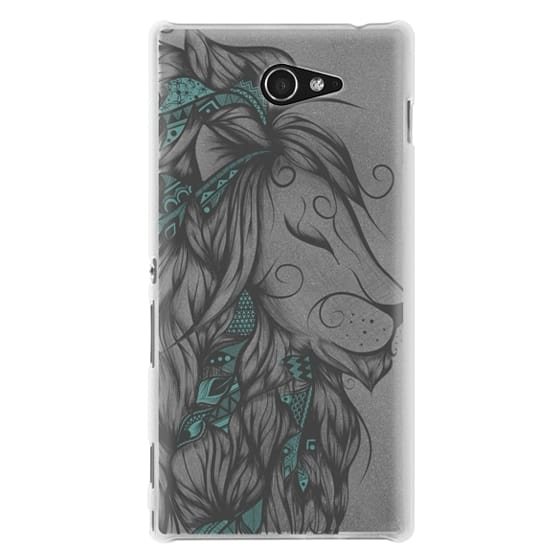 Sony M2 Cases - Poetic Lion Turquoise