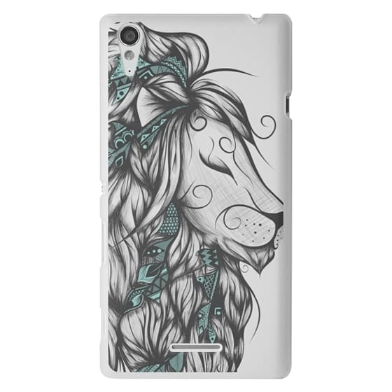 Sony T3 Cases - Poetic Lion Turquoise