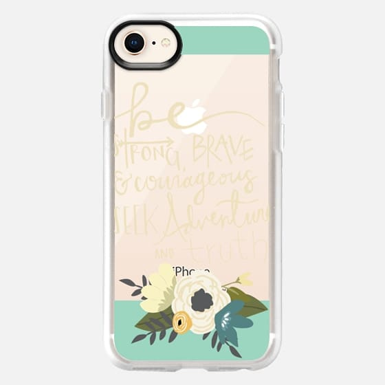 be strong, brave + courageous - Snap Case