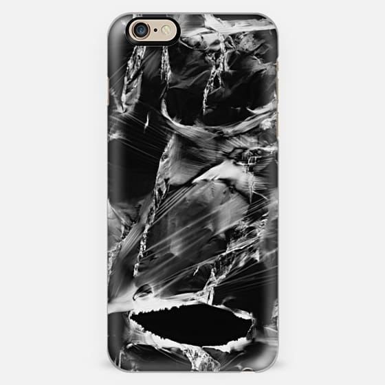 Black and white marble case  -
