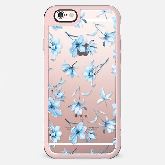 Floral case aqua