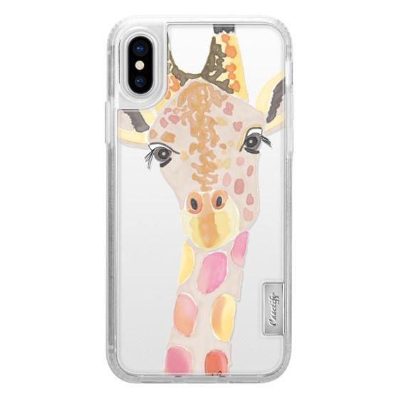 iPhone X Cases - Giraffe In Pink