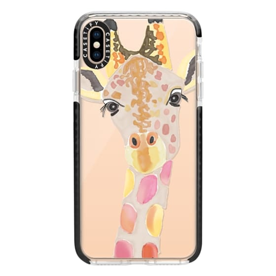 iPhone XS Max Cases - Giraffe In Pink