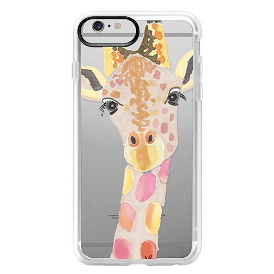 iPhone 6 Plus Cases - Giraffe In Pink