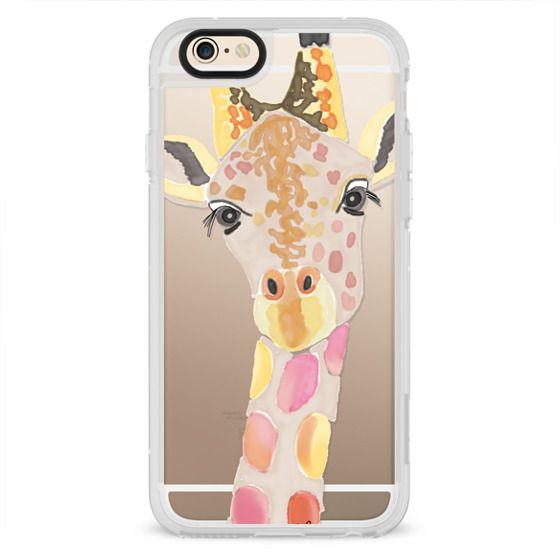 iPhone 4 Cases - Giraffe In Pink