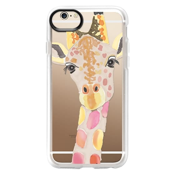 iPhone 6 Cases - Giraffe In Pink