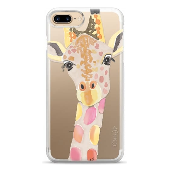 iPhone 7 Plus Cases - Giraffe In Pink