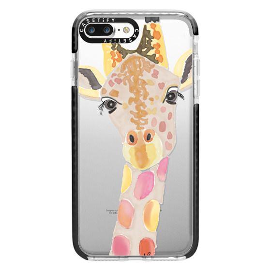 iPhone 7 Plus Cases - Giraffe In Pink