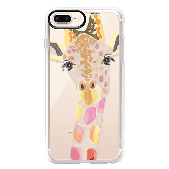 iPhone 8 Plus Cases - Giraffe In Pink