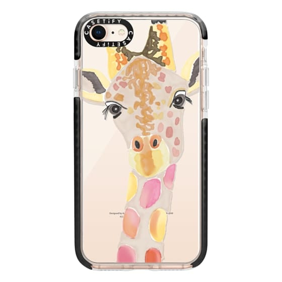 iPhone 8 Cases - Giraffe In Pink