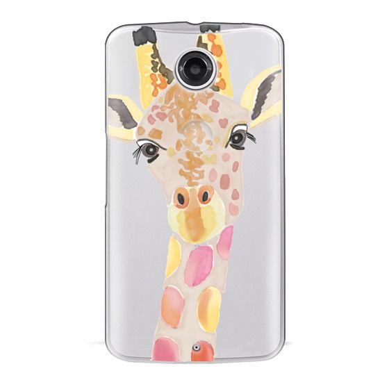 Nexus 6 Cases - Giraffe In Pink