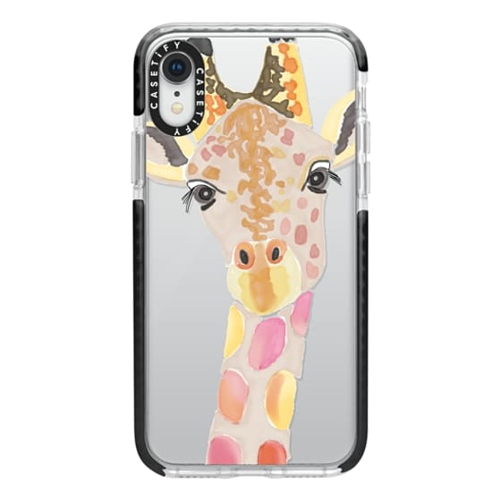 iPhone XR Cases - Giraffe In Pink