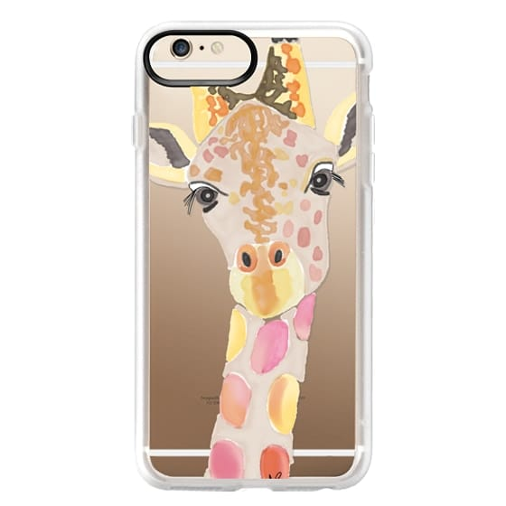iPhone 6s Plus Cases - Giraffe In Pink