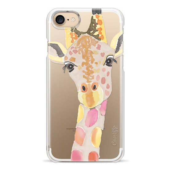 iPhone 7 Cases - Giraffe In Pink