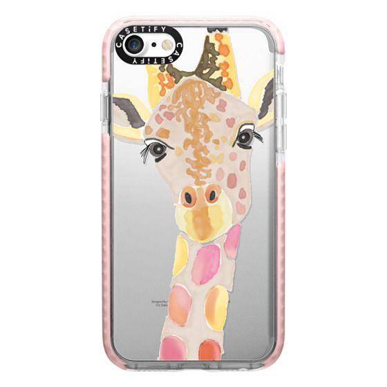 iPhone 7 Cases - Giraffe In Pink