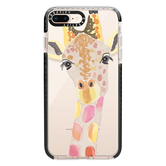 iPhone 8 Plus Cases - Giraffe In Pink