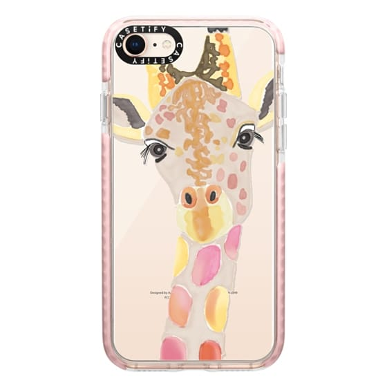 iPhone 8 Cases - Giraffe In Pink