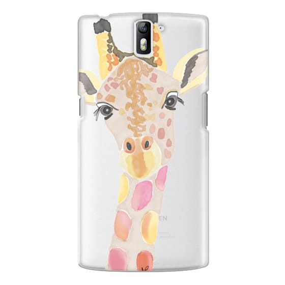One Plus One Cases - Giraffe In Pink