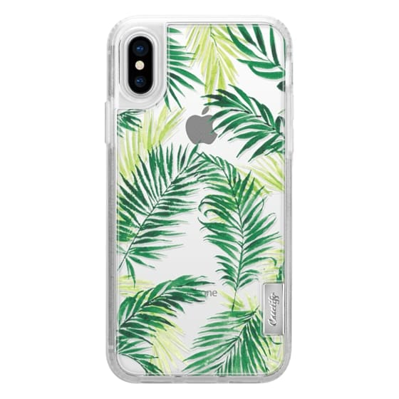 iPhone X Cases - Under the Palm Trees