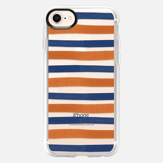 Auburn Stripe - Snap Case