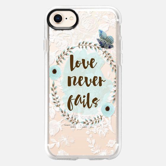 Love Never Fails - Snap Case