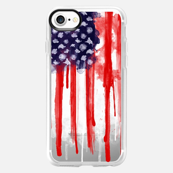 American Spatter Flag - Transparent -