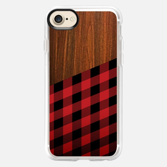 Wooden Lumberjack - Wallet Case