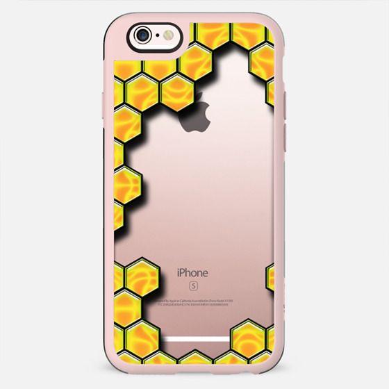 Honey Bee Pattern - Transparent - New Standard Case