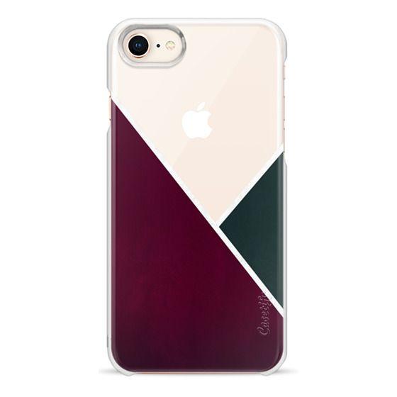 iPhone 7 Plus Cases - Noir Series - Red & Forest - Transparent