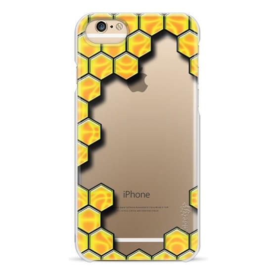 iPhone 6s Cases - Honey Bee Pattern - Transparent