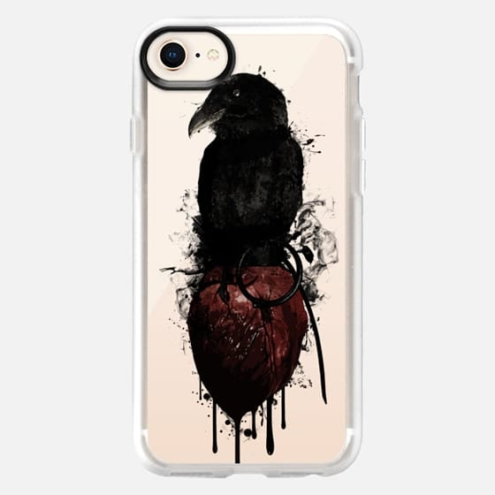 Raven and Heart Grenade - Transparent - Snap Case