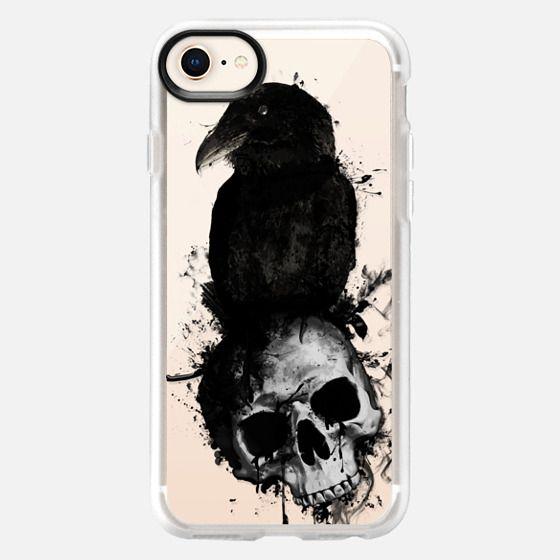 Raven and Skull - Transparent - Snap Case