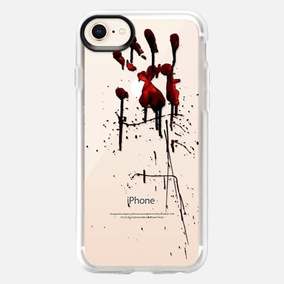 Zombie Attack Bloodprint - Transparant - Snap Case