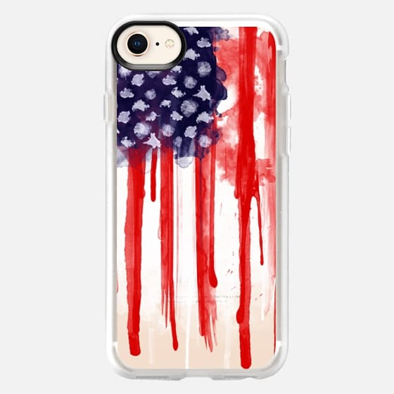 American Spatter Flag - Transparent - Snap Case