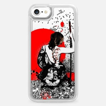 iPhone 7 Case Trash Polka - Female Samurai - Transparent