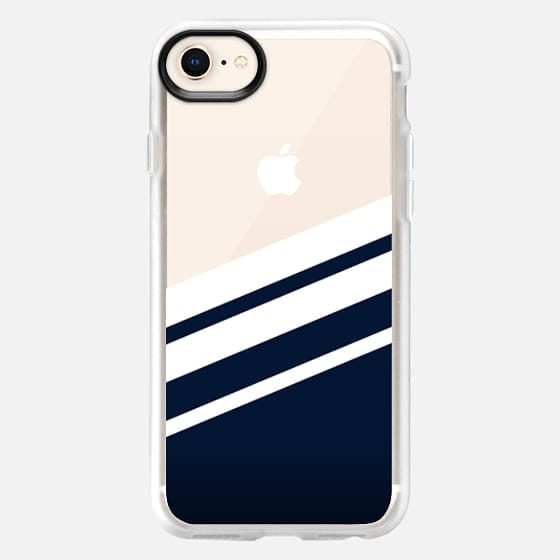 Navy - Transparant - Snap Case