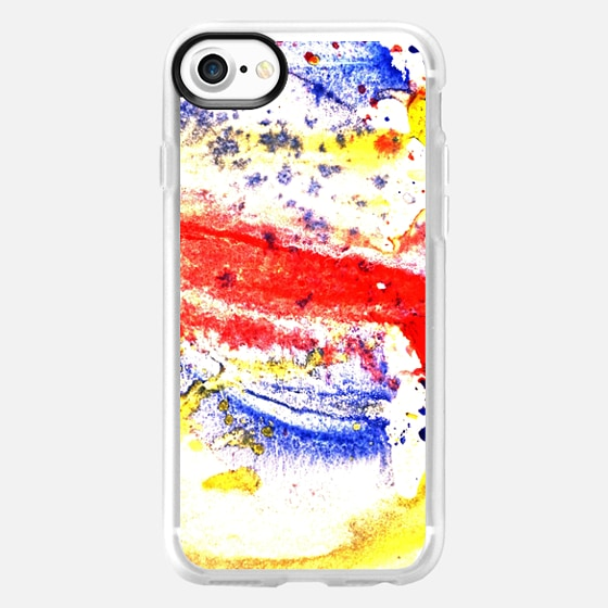Abstract watercolour paint splash on white -