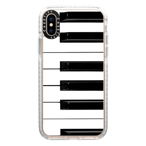 iPhone XS Cases - Musical Instrument Piano keys