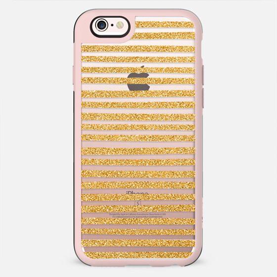Gold Glitter Stripes - New Standard Case