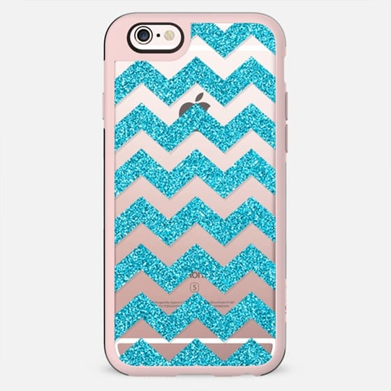 Blue Sparkle Chevron - New Standard Case