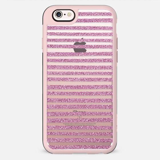 Pink Sparkle Stripes - New Standard Case