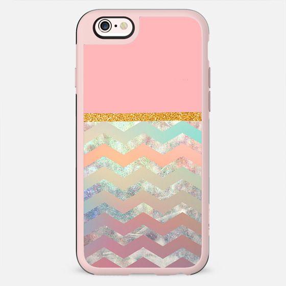 pink chevron and glitter - New Standard Case