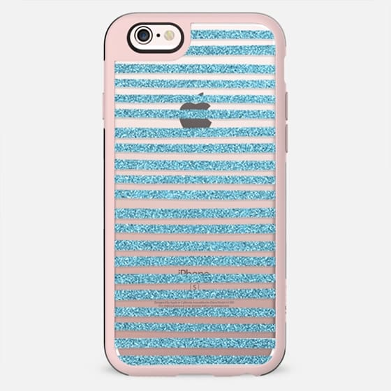 Blue Sparkle Stripes - New Standard Case