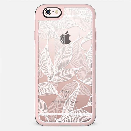 Tropical leaves transparent