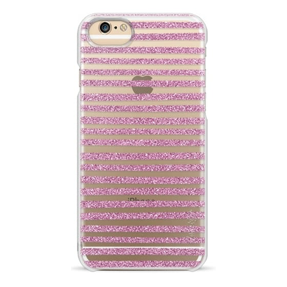 iPhone 6s Cases - Pink Sparkle Stripes