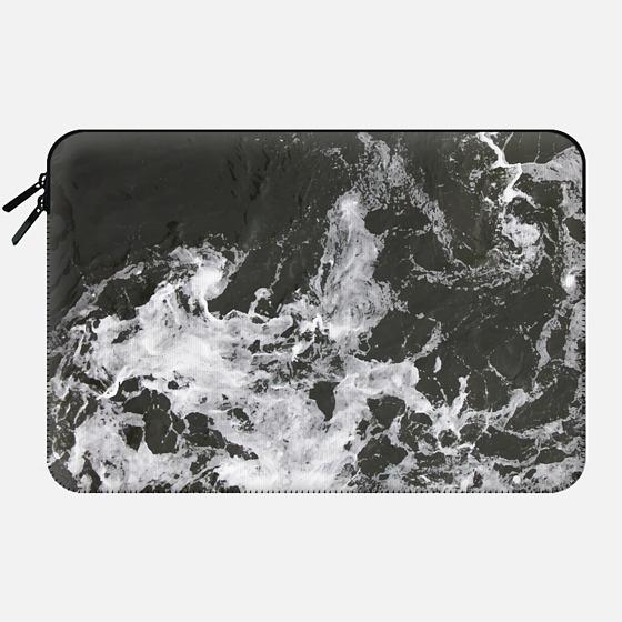 Black Water + Marble Macbook Case - Macbook Sleeve
