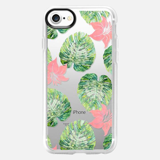 Monstera + Pink Phone Case - Wallet Case